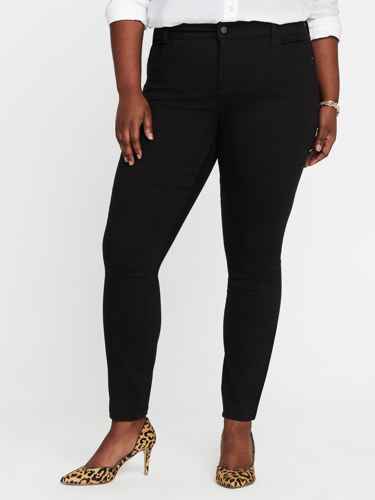 55a6de0d9fa2 Smooth   Slim High-Rise Plus-Size Rockstar Jeans