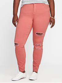 Smooth & Slim High-Rise Plus-Size Rockstar Skinny Jeans