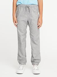 Flat-Front Heathered Joggers for Boys