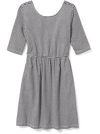 Fit & Flare Scoop-Neck Dress for Girls