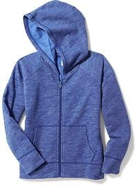 Slub-Knit Fleece Hoodie for Girls
