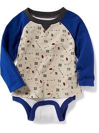 Cache-couche et t-shirt raglan 2 en 1 pour bébé