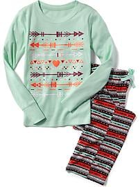 Graphic Sleep Set for Girls
