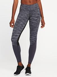 Legging Go-Dry à taille mi-haute de couleurs contrastantes pour femme