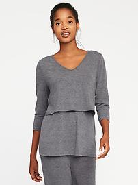 Maternity Double-Layer Nursing Top