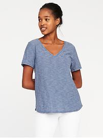 T-shirt tout-aller à ourlet arrondi pour femme