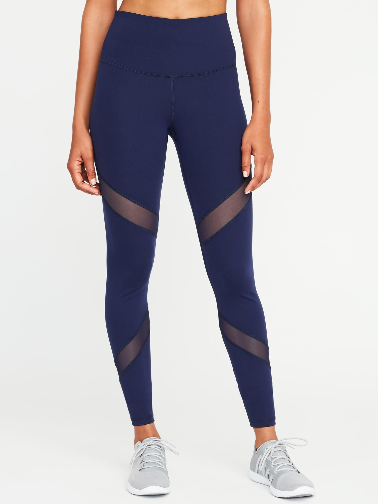 262ab366f8600c High-Rise Mesh-Panel Elevate Compression Leggings for Women | Old Navy