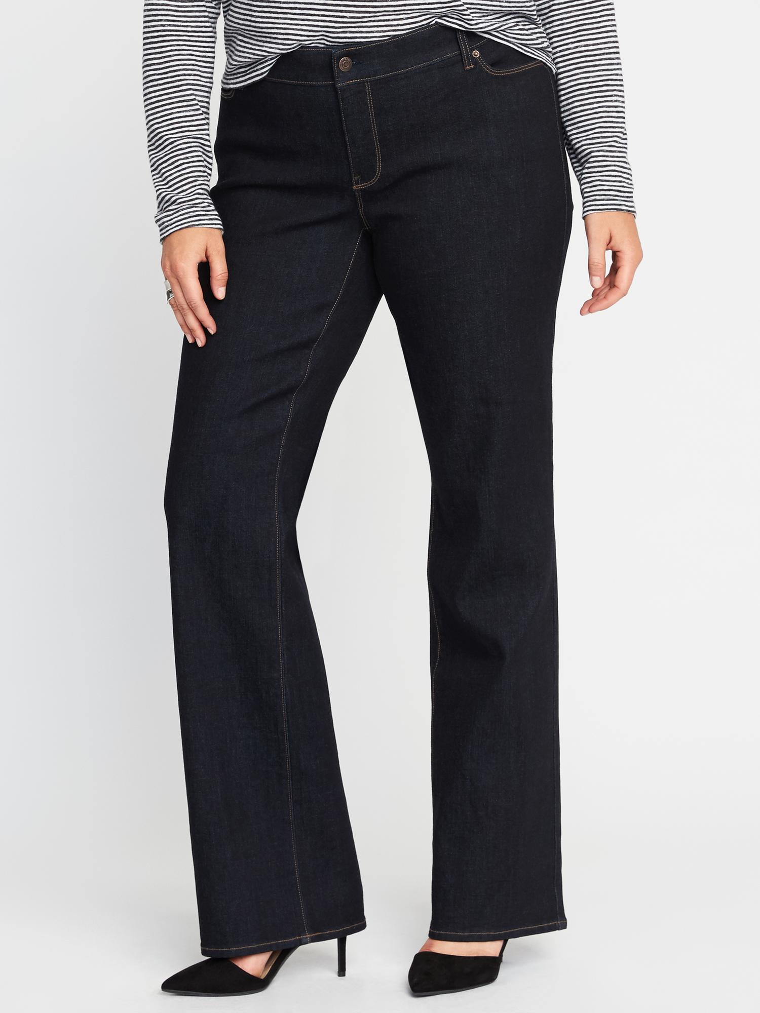 146128325013c Mid-Rise Secret-Slim Pockets Plus-Size Boot-Cut Jeans   Old Navy