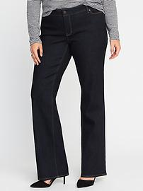 Smooth & Slim Mid-Rise Plus-Size Boot-Cut Jeans