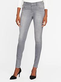 Mid-Rise Built-In-Sculpt Gray Rockstar Jeans for Women