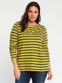 Mariner-Stripe Plus-Size Boat-Neck Tee