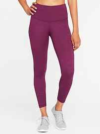 High-Rise 7/8-Length Melange Leggings for Women