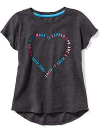 Relaxed Graphic Performance Tee for Girls
