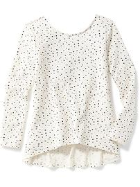 Hi-Lo Scoop-Neck Swing Top for Girls