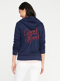 Relaxed Full-Zip Fleece Hoodie for Women