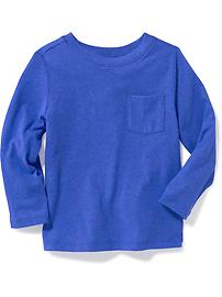 T-shirt col rond uni pour tout-petit garçon