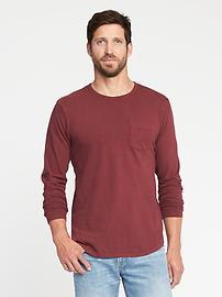 Garment-Dyed Crew-Neck Tee for Men