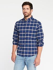 Regular-Fit Built-In Flex Oxford Shirt For Men