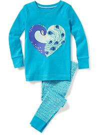 Peacock Graphic Sleep Set for Toddler & Baby