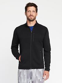 Veste en tricot de molleton Go-Warm avec glissière pour homme