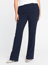 Pantalon en double armure lisse et profilée pour taille Plus