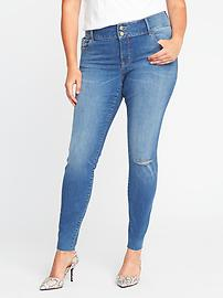 High-Rise Built-In Sculpt Plus-Size Rockstar Jeans