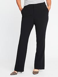 Smooth & Contour Plus-Size Double-Weave Harper Trousers