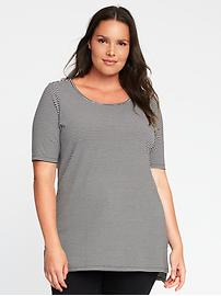 Semi-Fitted Plus-Size Tunic