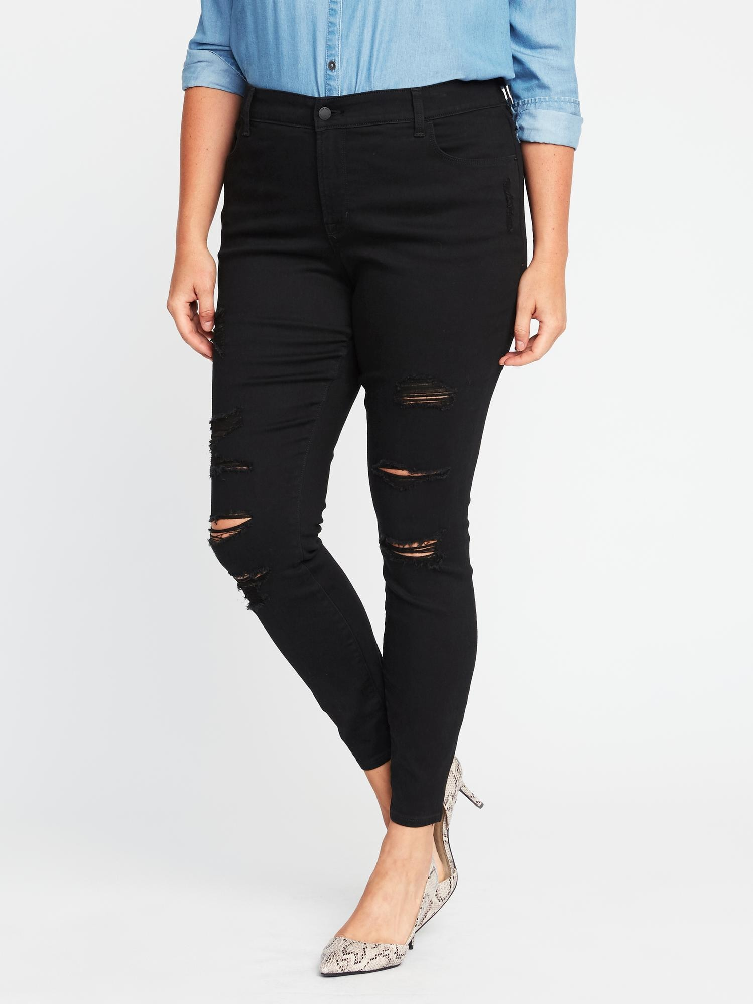 95d670d3c34c High-Rise Secret-Slim Pockets Plus-Size Rockstar Jeans