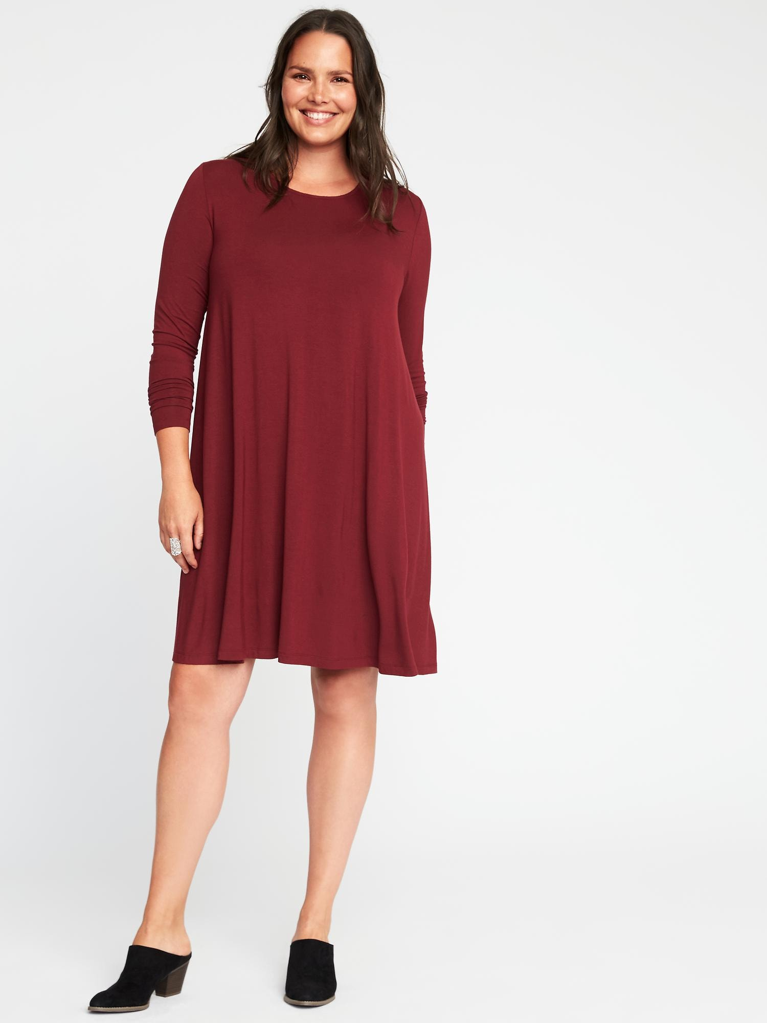 7227b3db6cab Plus-Size Jersey-Knit Swing Dress | Old Navy