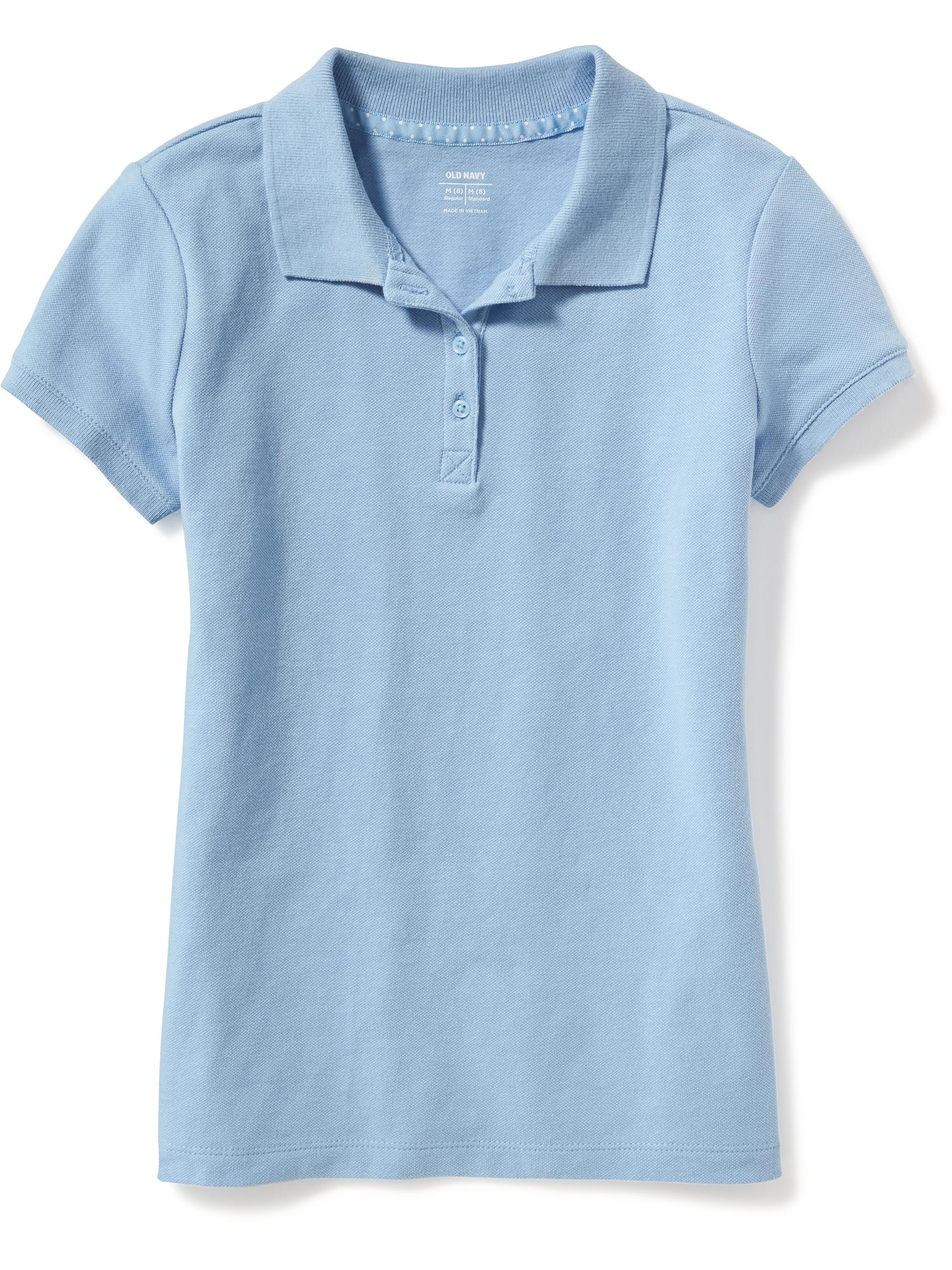 8f67a34bb Uniform Pique Polo for Girls | Old Navy
