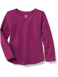 Jersey Scoop-Neck Tee for Toddler Girls