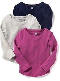 3-Pack Thermal Tees for Toddler Girls