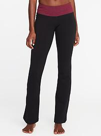 Mid-Rise Boot-Cut Yoga Pants for Women