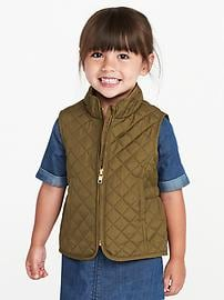 Lightweight Quilted Vest for Toddler Girls