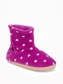 Performance Fleece Booties for Toddler Girls