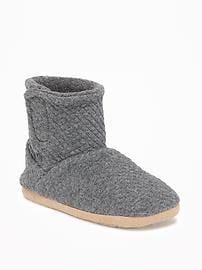 Quilted Jersey Booties for Toddler