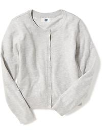Crew-Neck Cardi for Girls