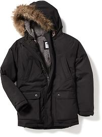 Sherpa-Lined Hooded Parka for Boys