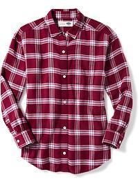 Plaid Flannel Boyfriend Tunic for Girls
