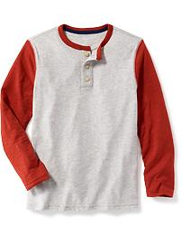 Jersey Henley for Boys