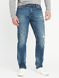 Athletic Built-In Flex Distressed Jeans for Men