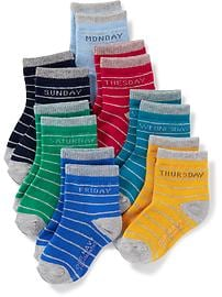 Day-of-the-Week 7-Pack Socks for Toddler & Baby