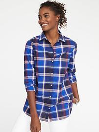Chemise à carreaux classique pour femme