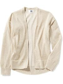 Sparkle Open-Front Cardi for Girls