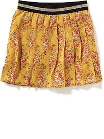 Pleated Floral-Chiffon Mini for Girls
