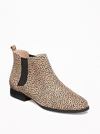 Sueded Chelsea Ankle Boots for Women