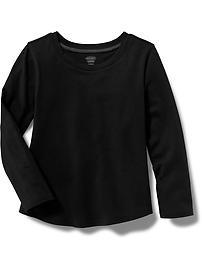T-shirt à encolure échancrée en jersey pour toute-petite fille