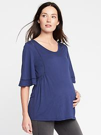 Maternity Eyelet-Trim Top