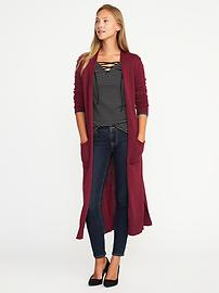 Open-Front Extra-Long Sweater for Women